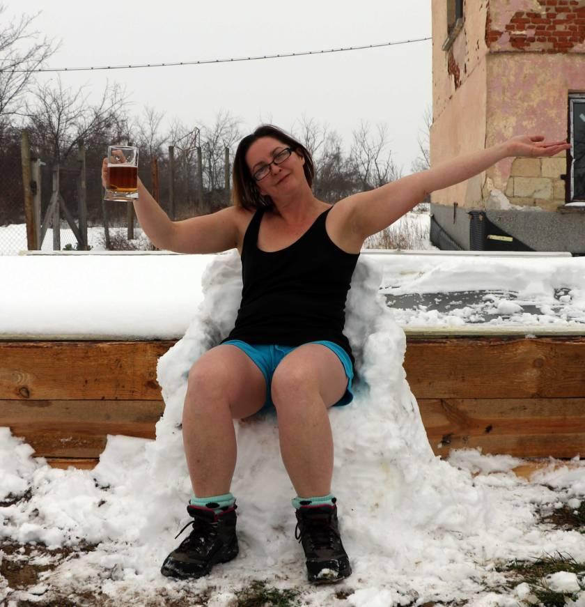 Snow-bathing